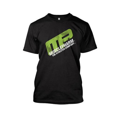 Musclepharm Sportswear Distressed Short Sleeve- Black