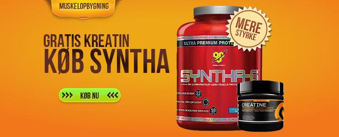 <center><b>Køb 2,3 Syntha-6 og få 500 gratis gram kreatin</b></center>