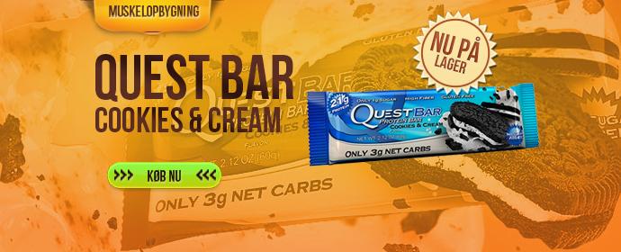<center><b>Cookies & Cream Quest barer</b></center>